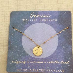 Gemini constellation necklace